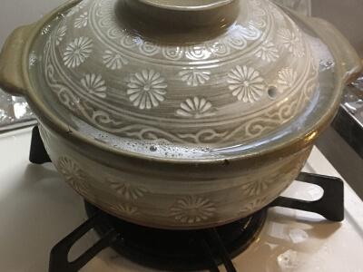 土鍋が沸騰してる