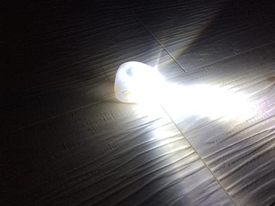 点灯した自転車ライト
