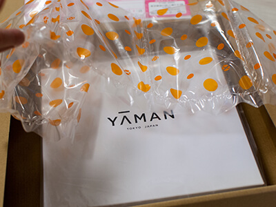 ヤーマンから届いた荷物を開封